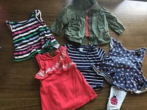 Girls 12-18 month clothing lot - over 15 items plus coat