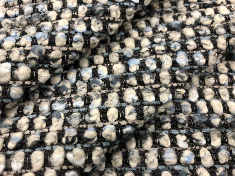Zinc Textile MCM Chunky Boucle Upholstery Fabric- Marmolada Lapis 2.6 yd Z576/04