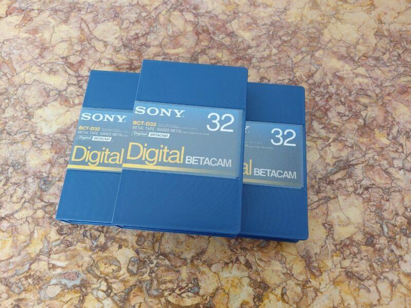 UNTOUCHED, NEW SONY BCT-D32 DIGITAL BETACAM