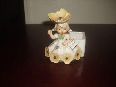 Vintage 1956 NAPCO National Potteries August Poppy Flower Girl Planter IC2852
