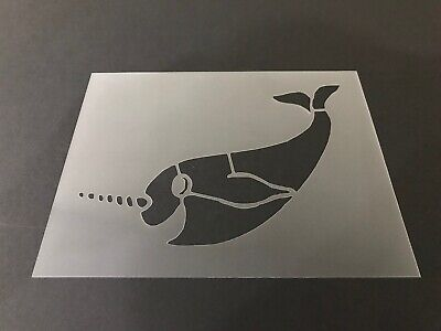 Narwhal #4 Stencil 10mm or 7mm Thick, Crafts, Narwhale, Whale, Unicorn