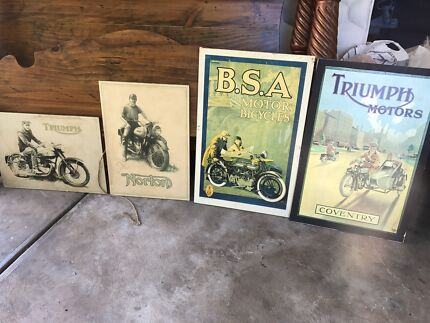 Old Motorcycle pictures 'wooden'