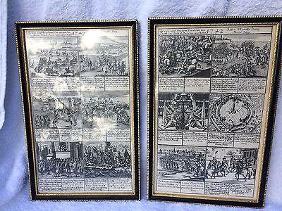 18th century 1742 German / Prussian copper engravings by Josef Erasmus Belling