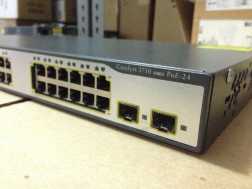 Cisco 3750 Ws-c3750-24ps-e Ethernet Catalyst Poe Switch 24 Port 3750 24p