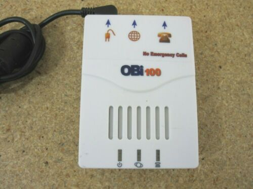 Obihai OBi100 VoIP Telephone Adapter & Voice Service Phone Bridge w/ AC adapter