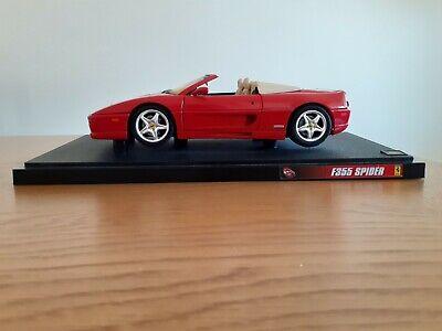 Mattel Hot Wheels Ferrari F355 Spider 1:18 Red Convertible Used