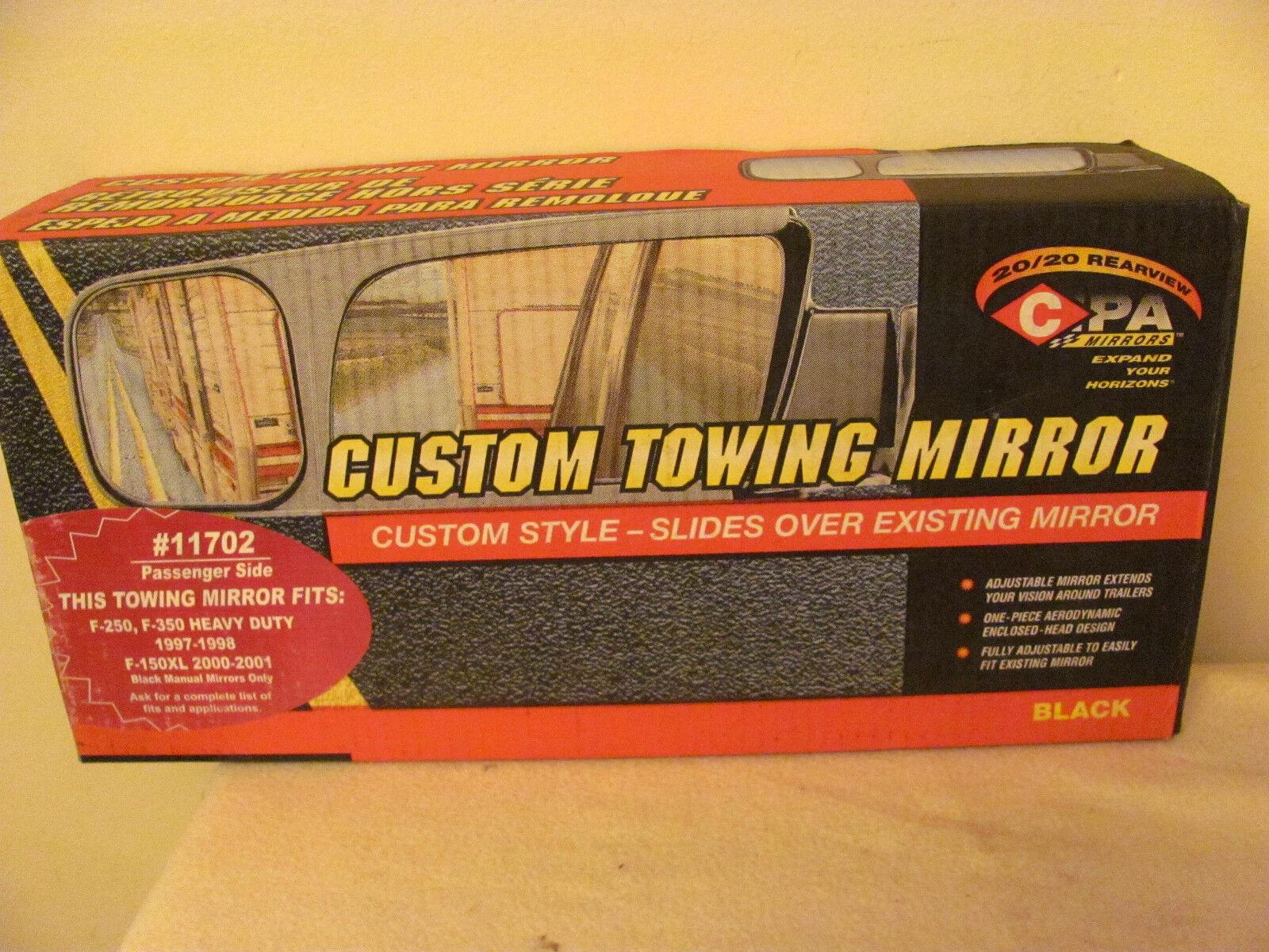 CIPA11702 Custom Towing Mirror Ford 1997-1998 Pickup 250 350 RH+00 01 F150XL