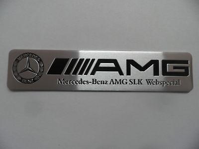 AMG - Alu Plakette 3D Sticker, Aufkleber, Emblem, Schriftzug, Badge, Mercedes