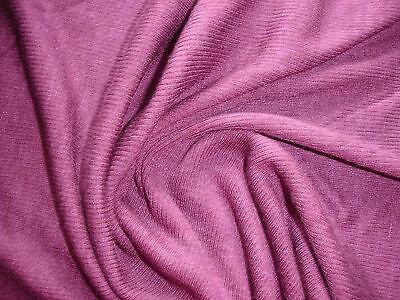 1  Lfm Jersey 5,00€/m²  Schlauchstoff Wollmischung lilarot YA26