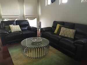 Adriatic 3 + 2 seater leather sofa with 4x recliners Thomastown Whittlesea Area Preview