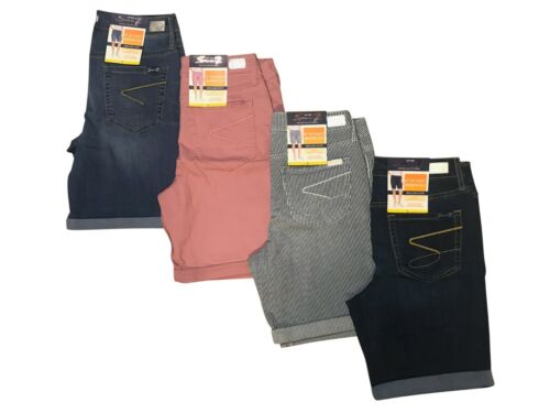 Seven7 Sunset Bermuda Denim Shorts  Womens Roll Cuff  Variety Size and Color