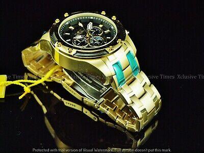 Invicta Men 50mm Scuba Speedway Chronograph Glass CarbonFiber Gold Tn SS Watch