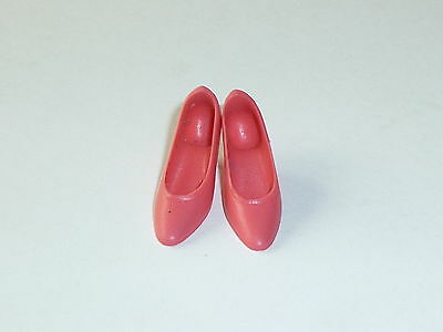 VINTAGE MOD FRANCIE TWEED SOMES PINK POINTED TOE SQUISHY LOW HEELS SHOES JAPAN