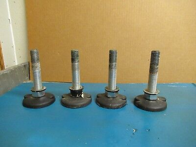 4 No Name Machine Table Adjustable Foot Leg Feet Lot Of 4 M 20-25 Threads