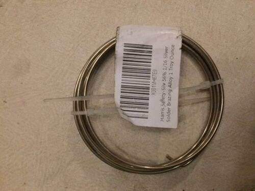 Harris Safety-Silv 56% 1/16 Silver Solder Brazing Alloy 1 Troy Ounce, 75310 5631