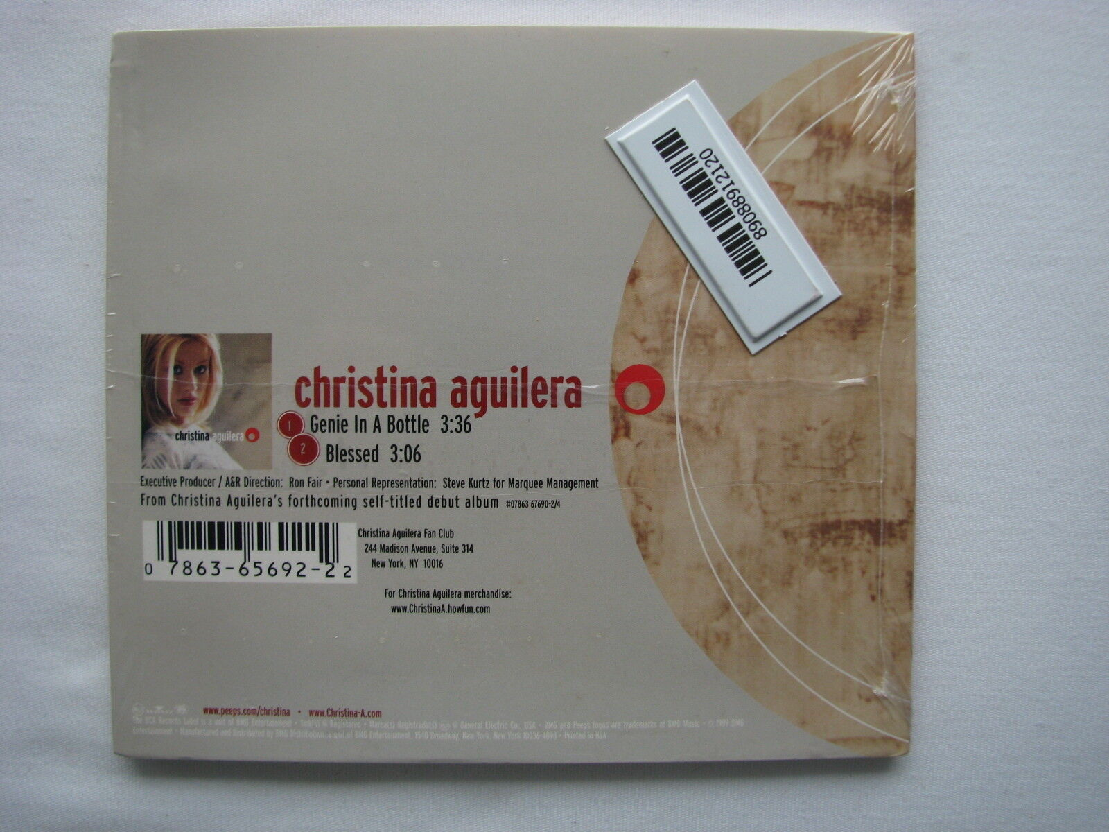 1st Single CHRISTINA AGUILERA GENIE IN A BOTTLE 2-trk. CD Single NEW/SEALED  - $27.99