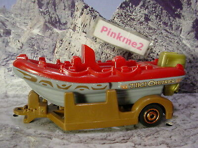 2017 RIVER ADVENTURE☆RIVER BOAT w/TRAILER☆red/gray/brown;TIKI CRUISES☆MATCHBOX
