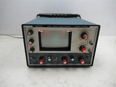 Vintage Heathkit Dual Trace Oscilloscope Id-4510 Laboratory Lab Unit