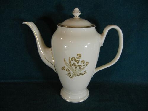 "Castleton China Autumn Lea 9 3/4"" Large Coffee Pot with Lid"