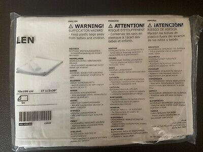 Ikea LEN Matratzenschutz in weiß 100% Baumwolle Matratzenschoner NEU 70x100