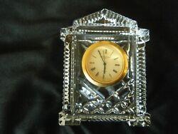 House Shaped, small Waterford Crystal Quartz Desk/Mantel clock