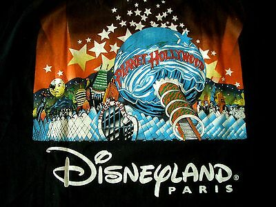 Planet Hollywood Paris Disneyland Black Tee Size L New Neu