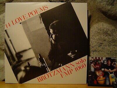 PETER BROTZMANN TRIO 14 Love Poems LP/1984 Germany/FMP/Solo Sax Free Improv.