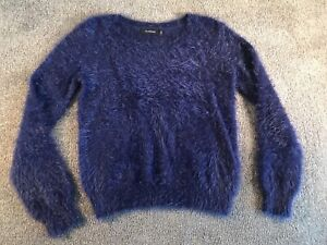 Glassons Fluffy Knit Jumper in Blue Size S Narre Warren Casey Area Preview