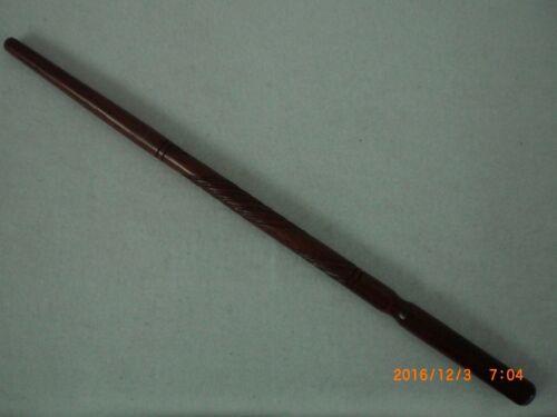 Peyote Drumstick, Red Heart Wood, carved