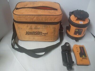 Johnson Self-leveling Rotary Laser Level Red Beam Rotary Laser Detect. Wclamp