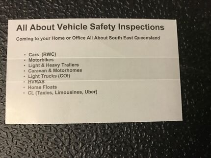 All About Vehicle Safety Inspections (RWC)