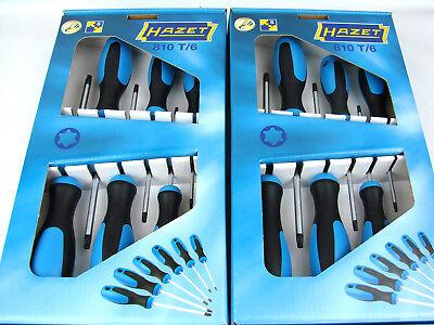 2x HAZET 810T/6 TORX Schraubendreher Satz Innen-Torx-Profil Schraubenzieher Set