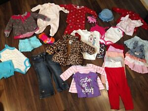 Box of girl clothes 3-17 months