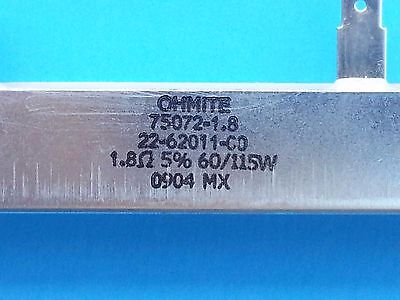 Ohmite Wirewound Power Resistor - 1.8 Ohm 115w Pn 75072-1.8