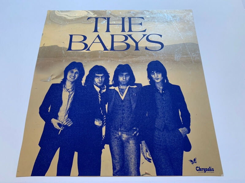 "Original 1976 The Baby's s/t Aluminum Foil Promotional Rock Poster 22"" Chrysalis"