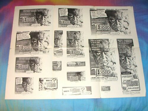 "VTG.1963 UNCUT ORIGINAL ""THE TERROR"" MOVIE THEATER PRESS-BOOK, MONSTER HORROR"