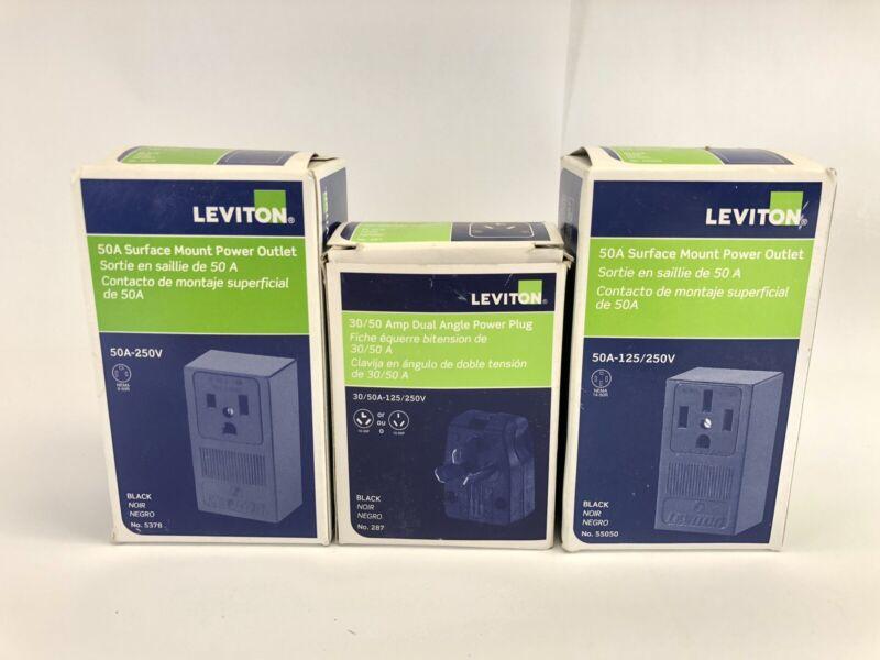 Leviton Variety 3pack Bundle. 30/50 Amp 125-250v
