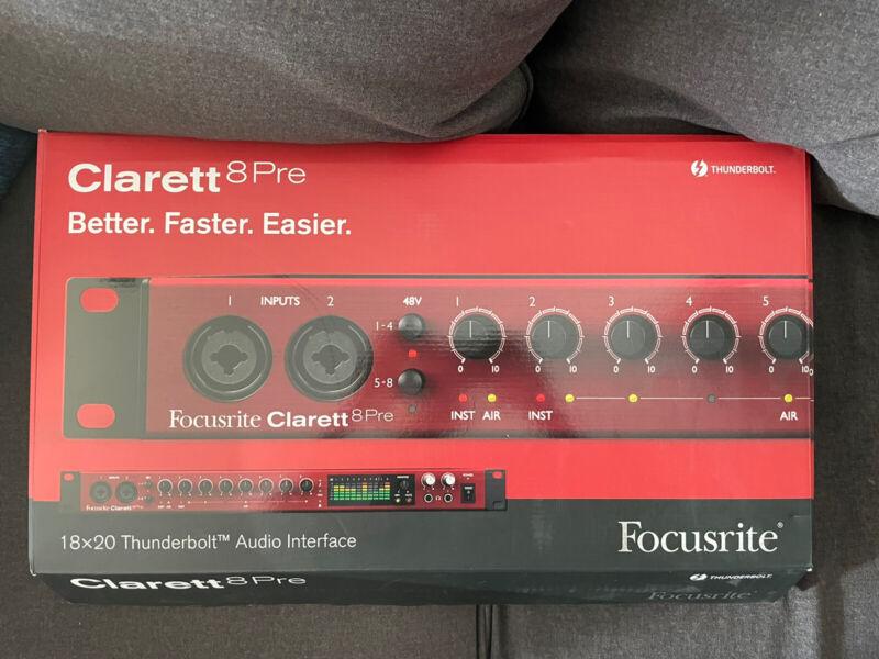 Focusrite Clarett 8Pre 18x20 Thunderbolt Audio Interface - Red