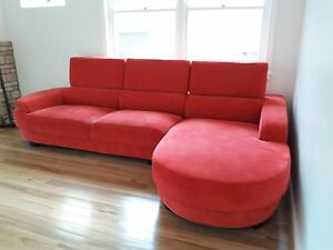 Chaise Sofa From Plush (Pick up or Delivery) Prestons Liverpool Area Preview