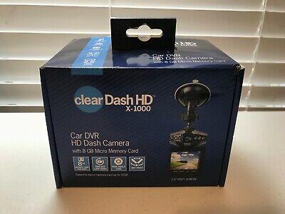"Brand New Clear Dash Cam HD X-1000 DVR 2.5"" Car Truck Vehicle with 8GB MicroSD"