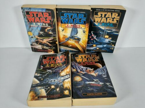 Star Wars X-Wing Books 1--5 Michael Stackpole Aaron Allston Rogue Squadron