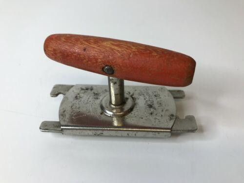 Vintage Edlund TOP OFF Jar Bottle Opener Red Wooden Handle
