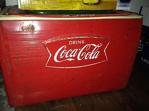 Antique Coke cooler
