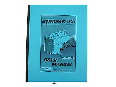 Thermal Dynamics Model 4xi Dynapak Plasma Cutter User Manual 955