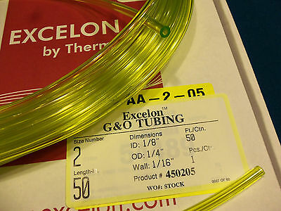 - Clear Yellow Fuel Line,1/8 X 1/4,.125X.250,Craftsman,Ryobi,Poulan,Weedeater-2 Ft