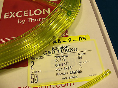 - Clear Yellow Fuel Line,1/8 X 1/4,.125X.250,Craftsman,Ryobi,Poulan,Weedeater-1 Ft