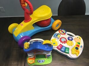 3 baby toys - with sounds and lights
