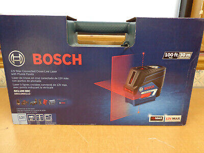 New Bosch Gcl100-80c 12v Max Cross Line Laser With Plumb Points Free Ship