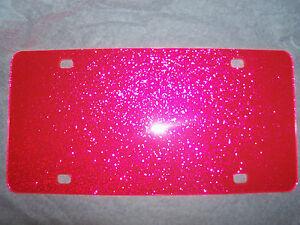 Blank Pink Sparkle Acrylic License Plates 12 X 6 Wholesale