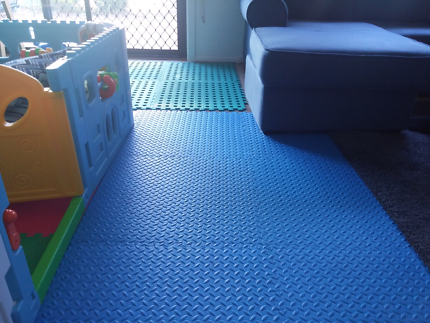 Polytuf 50 x 50cm Solid Blue Foam Mats - 4 Pack For 6$